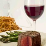Ruth's Chris Steak House serves steaks and wines, among other menu items.