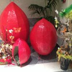 One of the hotel's Easter displays
