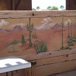 The resort commissioned a very talented muralist who's work appears all around the park