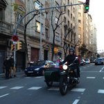 Joao with my two younger sons (14 &16) riding through the streets of Barcelona
