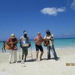 wandering minstrels on the beach