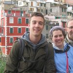 Lyle, Becky, and Andy on the Cinque Terre Trek