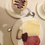 Wonderful breakfast buffet with AMAZING cappuccino!