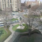 Looking down toward Scott Circle Park/Rauh Memorial
