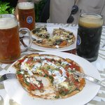 Pizzas and beers
