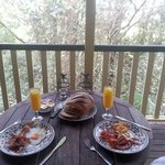 breakfast on the deck (from hamper provided)