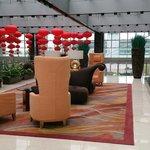 Foyer festooned for Chinese new year