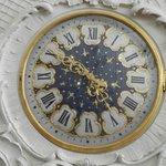 Ornate clock.