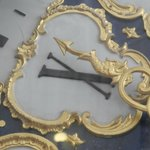 Close-up of the clock.