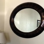 Miner's Inn mirror in room