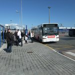 Bus - waiting to leave the port to Calais town