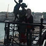 Passenger Sea Terminal. Sailor's wife monument