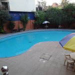 the swimming pool from our bedroom