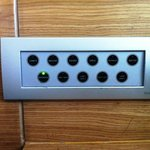 Кнопки управления освещением в номере