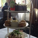 Pimms jelly afternoon tea