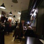 Restauranten er meget åben og venlig