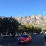 Step aside of the hotel, you'll get a stunning close up view of the Table Mountain.