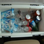 Free refreshments inside the van