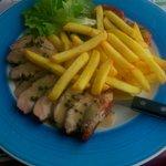 Les aiguillettes de canard frites