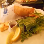 Blue Cod and fries at Level One, Kelvin Hotel