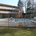 The pool - just being got ready in early April