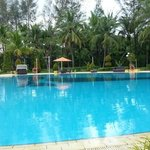 very wide pool