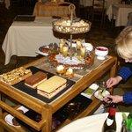 Une partie du chariot de desserts