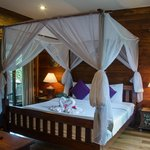 Our room in Thai Thai, super comfortable bed, beautiful design, care for every detail