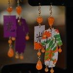 Orecchini Kimono rivestiti in seta