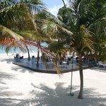 Bar de plage vue de la chambre