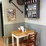 The 'potting shed' themed interior