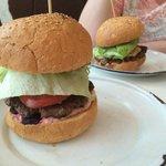 Lamb and beef burgers