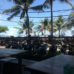 View from a restaurant on the beach