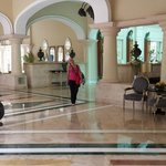 Large open lobbies, resort big enough to feel empty.