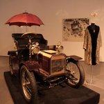 Vintage car with fashion display