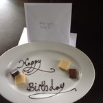 A lovely touch when we got to our room.
