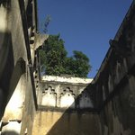 Asanas under blue skies at the Mbweni Ruins