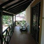 Uno dei due balconi privati