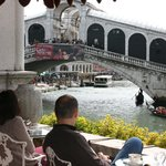 View of Rialto Bridge from the terrace