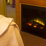 All guest suites include a year round fireplace.
