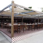 Main restaurant - outdoors section - more small tables