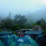 acampando la primer noche