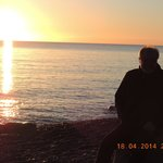 Sonnenuntergang auf der Nordseite (Ostsee)