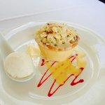 Apple and rhubarb tart