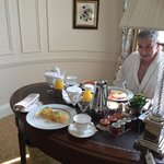 Breakast served in our suite - totally delicious