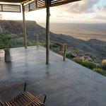 Terrasse sur canyon