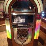 A jukebox at Jake's resturant. Lots of oldies.