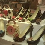 chocolate shoes in the food hall