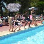 Round the pool fun!