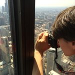 Nothing like leaning against the glass to take pictures from 97 floors above the ground.